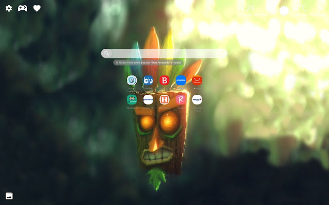 Crash Bandicoot PS4 HD Wallpaper New Tab