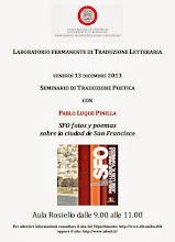 Photo: Laboratorio permante di Traduzione Letteraria. Venerdì 13 diciembre 2013. Aula Rosiello dalle 9.00 alle 11.00
