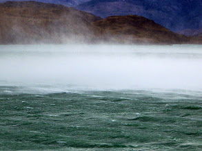 Photo: The wind began to toss the lake's surface into sheets of rain