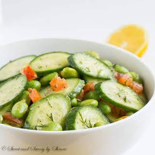 Cucumber Edamame Salad.