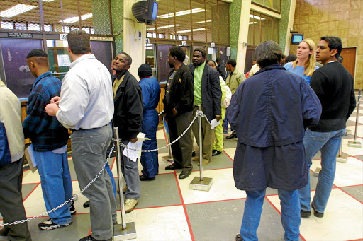 The home affairs department has clashed with unions over its attempts to get staff to work on Saturdays.. Picture: FINANCIAL MAIL