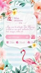 (FREE) GO SMS FLAMINGO THEME - náhled