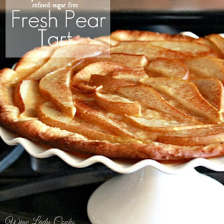 Easy Homemade Pear Tart.
