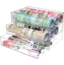 Deflecto Washi Tape Storage Cube - Clear