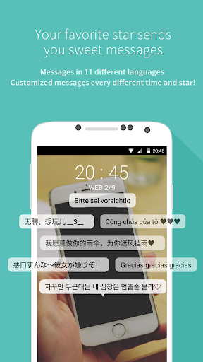 Mydol- Lockscreen, Virtual chat, Chat bot 4.2.7 screenshots 1