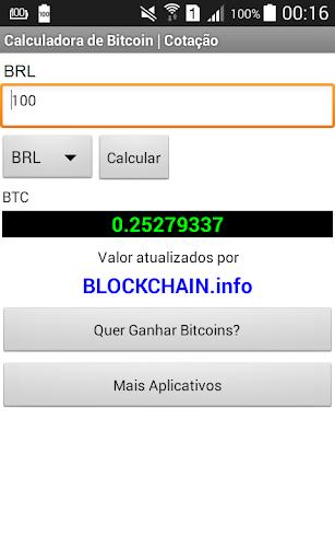 Calculadora De Bitcoin Screenshot 3