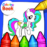 Coloring Horse Pony Hair Rainbow