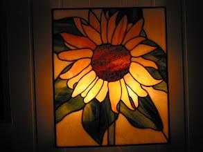 Photo: zonnebloem lampje - door Agnes Boes