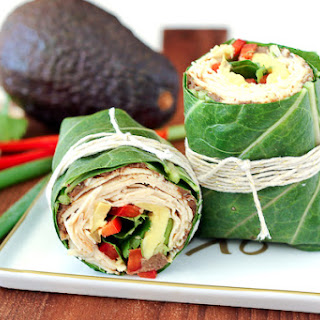 Southwestern Collard Wrap with Chicken and Avocado