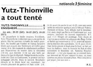 Photo: 25-10-2010 Yutz-Thionville ne peut résister au leader et s'incline 0-3