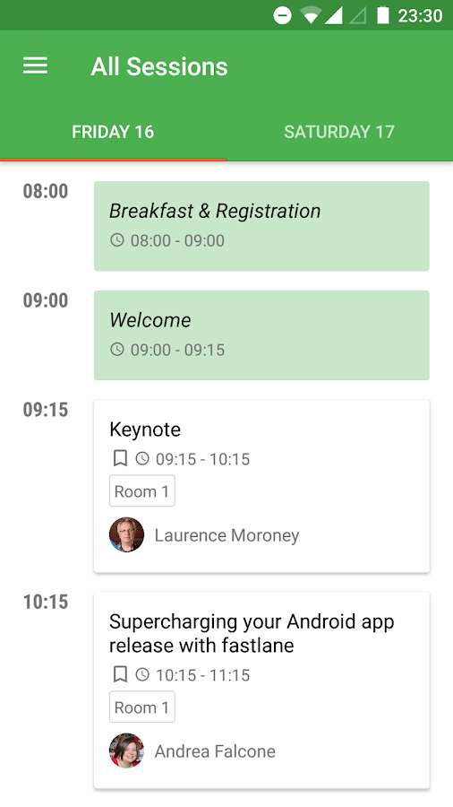 droidcon Vienna 2016- screenshot