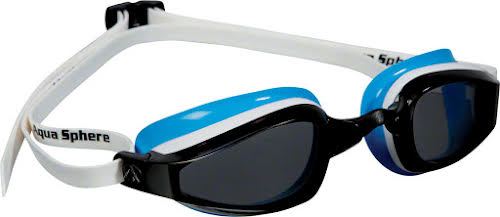 Michael Phelps K-180 Lady Goggles: White/Blue with Smoke Lens