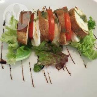 Warme Trio Salade Met Tomaat En Mozzarella