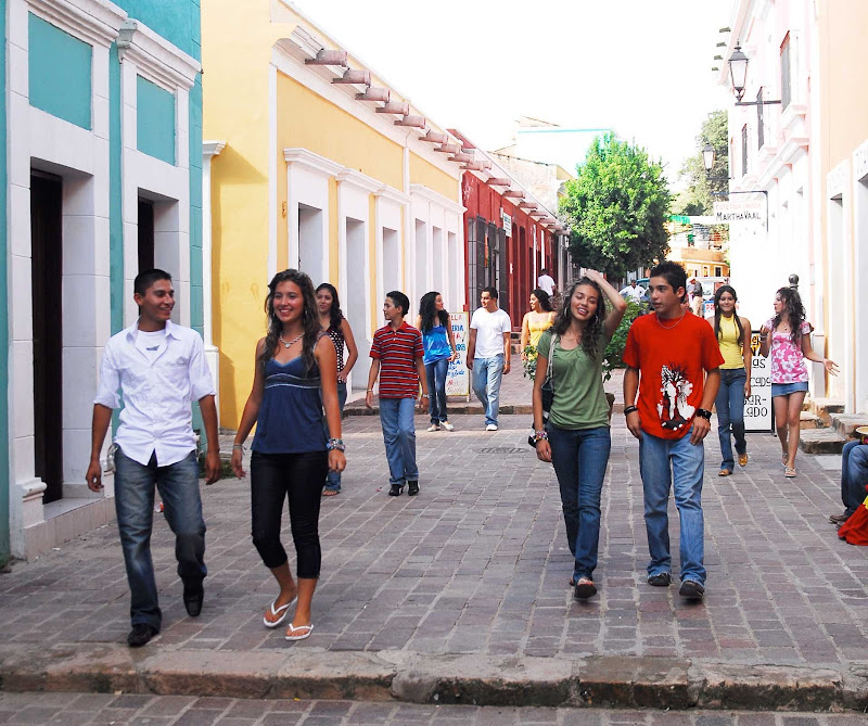 Strolling the streets of Cosala, Mexico. Be careful with your valuables in public places, no matter the port or destination.