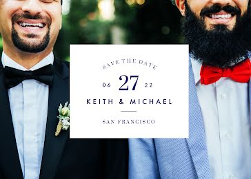Keith & Michael's Wedding - Wedding Invitation Template