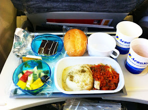 Photo: Never had fish as an inflight meal before, ever. Interesting.  Was good.