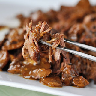Pressure Cooker Beef Brisket with Mushrooms.