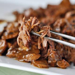 Pressure Cooker Beef Brisket with Mushrooms.