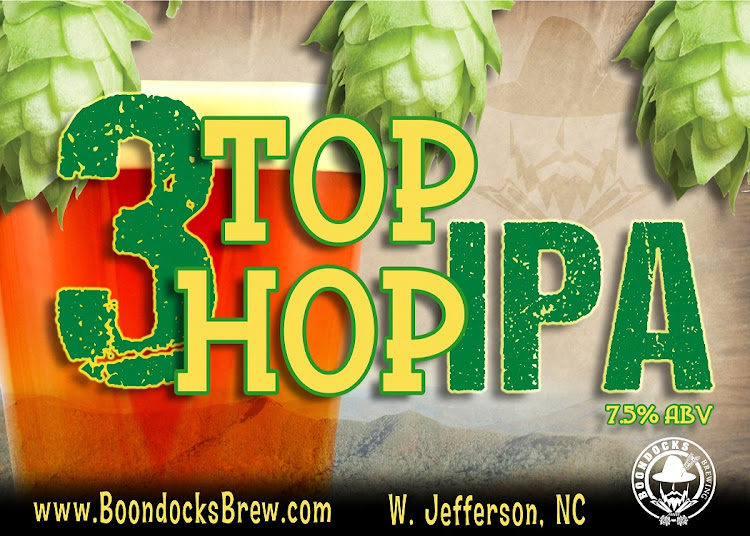 Logo of Boondocks 3Top-3Hop IPA