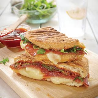 Alpen Salami Panini with Tomato-Chili Jam