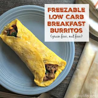 Freezable Low Carb Breakfast Burritos (grain free, nut free).