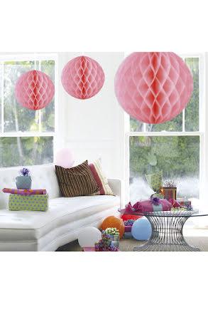 Dekorationsboll, rosa 50 cm