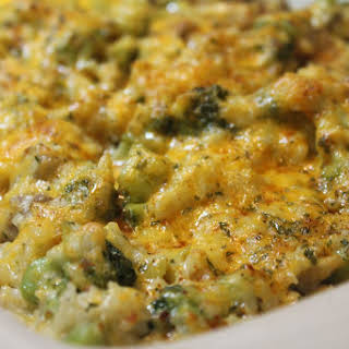 Cheesy Broccoli Chicken and Rice.