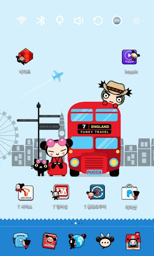 Pucca in London Launcher Theme|玩個人化App免費|玩APPs