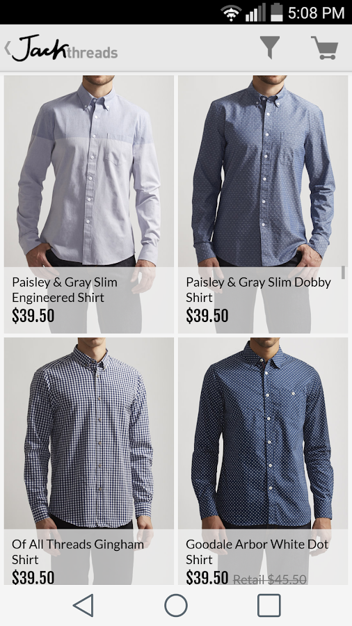 JackThreads: Shopping for Guys - screenshot