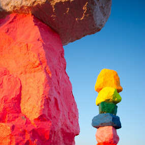 7 magic mountains by Chris Pugh - Artistic Objects Other Objects ( mountains, magic, desert, #seven, creative, art, #7, instalation )