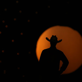 Zen Cowboy by VAM Photography - Artistic Objects Other Objects ( cowboy, moon, stars, art )