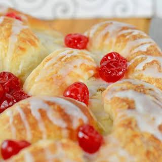 Danish Pastry Wreath.