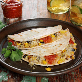 Southwest Quinoa Quesadillas with Chipotle