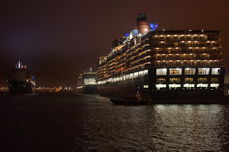 Photo: Queen Elizabeth Queen Victoria & Queen Mary First time EVER the 3 Queens Together in Southampton