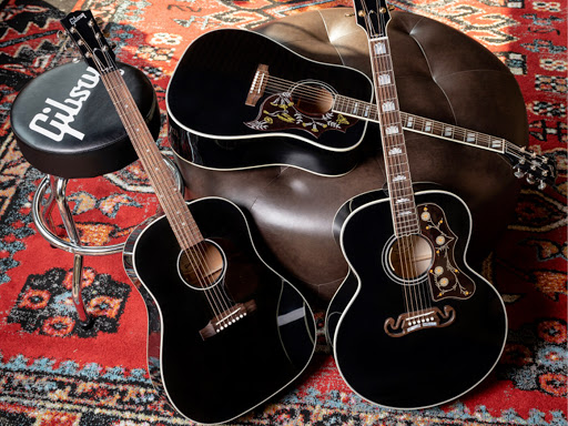 Gibson adds Ebony Hummingbird, J-45 and SJ-200 to its Exclusives Collection