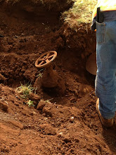 Photo: Yesterday (July 22), the workers found water valves which were buried.  They needed to know if these were still operational and where it led to.
