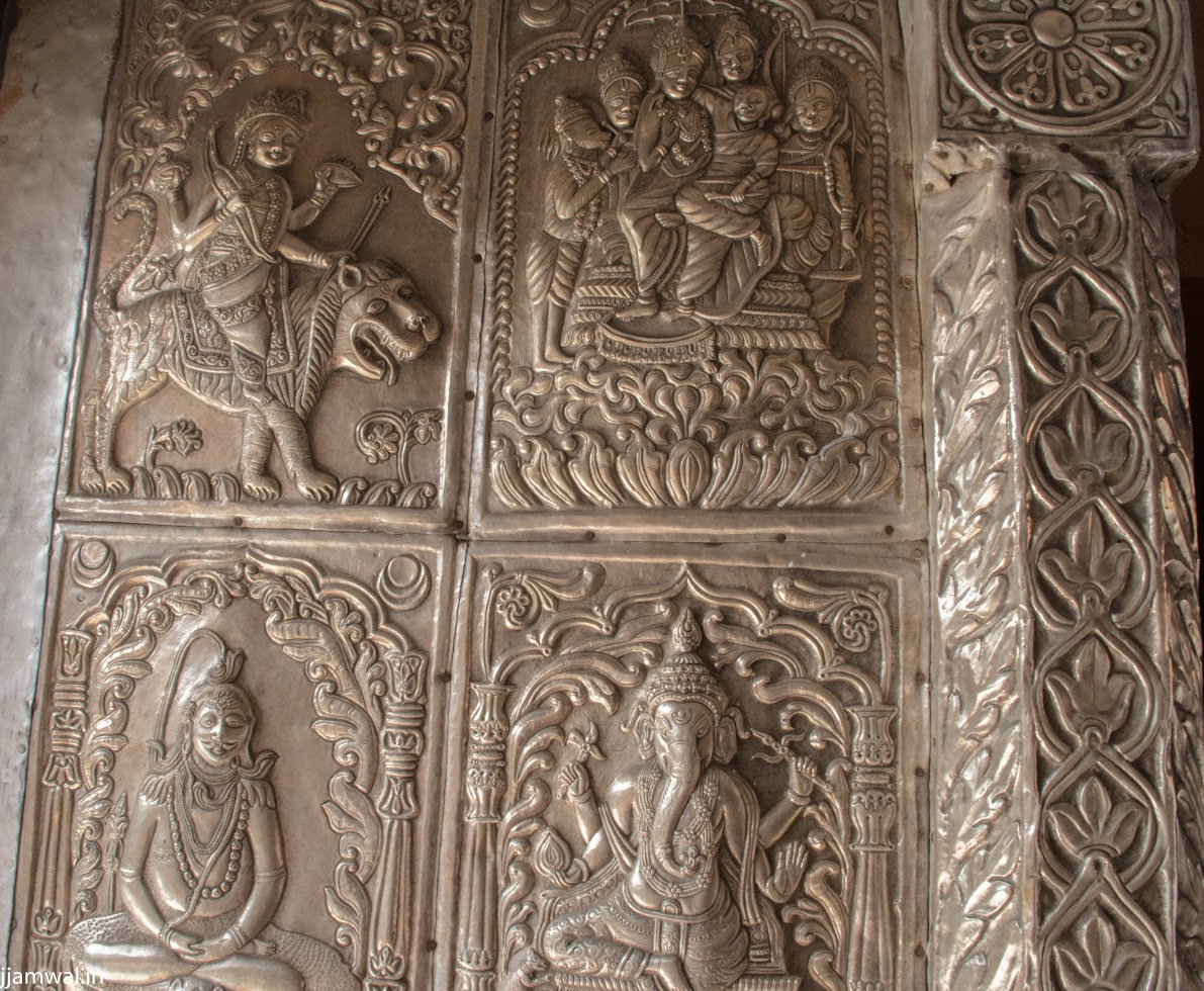 Carvings on temple doors