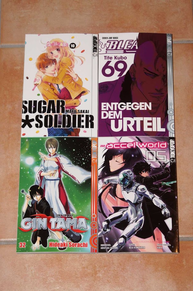 Tokyopop Manga Sugar Soldier Bleach Gin Tama Accel World