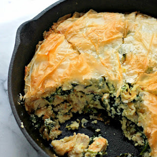 Chicken Florentine Phyllo Pie.