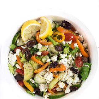 Greek Salad Chicken Wrap