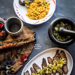 Dendeng Batotok / Indonesian spicy thin beef jerky.
