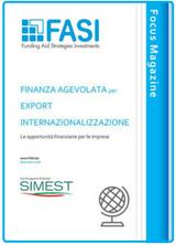 Finanza agevolata per export internazionalizzazione