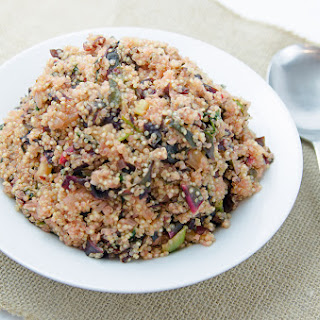 Tropical Quinoa with Garlic and Swiss Chard.