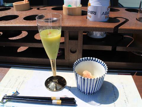 WILLER(網走バス)「レストランバス」 札幌8888 料理 1品目 その1