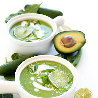 Chilled Avocado Cucumber Soup.