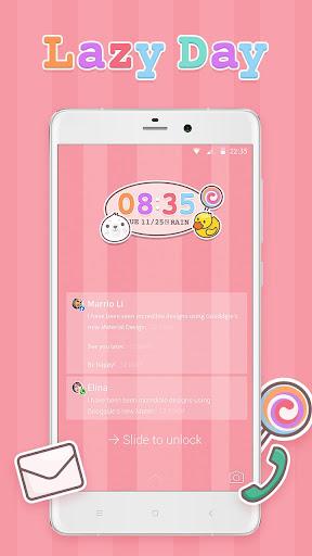 Lazy Day CM Locker Theme screenshot 2