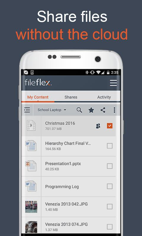 FileFlex – Access Share Stream- screenshot