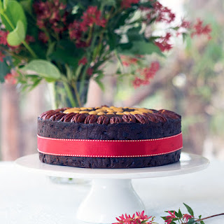 Port and Chocolate Christmas Cake.