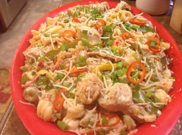 Low Fat Chicken & Pasta N Cream Sauce With Veggies Recipe
