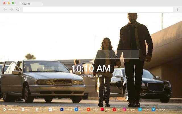 Hugh Jackman Pop HD Star New Tab Page Theme